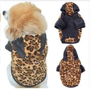 Jackets & Blazers - *DOG* Fleece and faux leopard fur hoodie